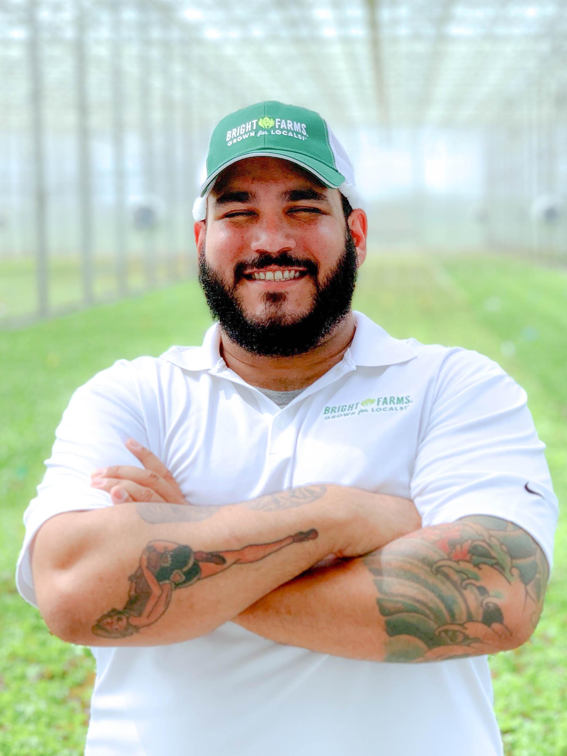 David DelPilar Head Grower BrightFarms CHI Greenhouse