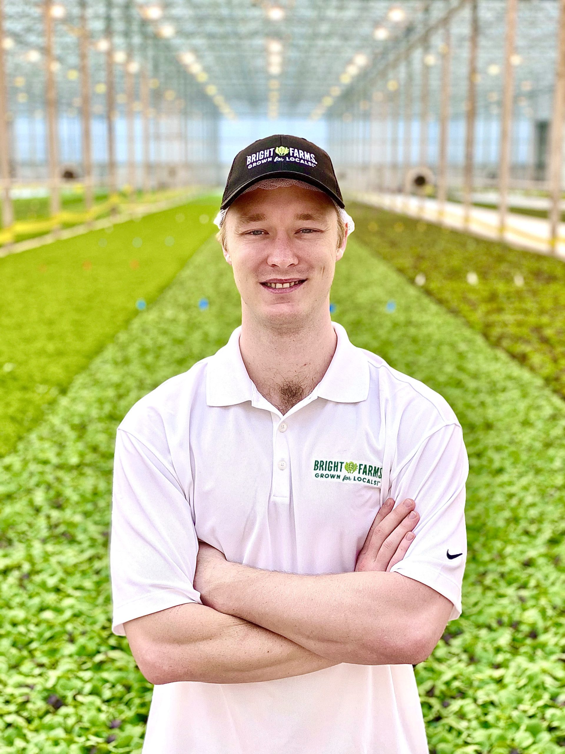 John O'Neal Apprentice Grower BrightFarms OHI Greenhouse