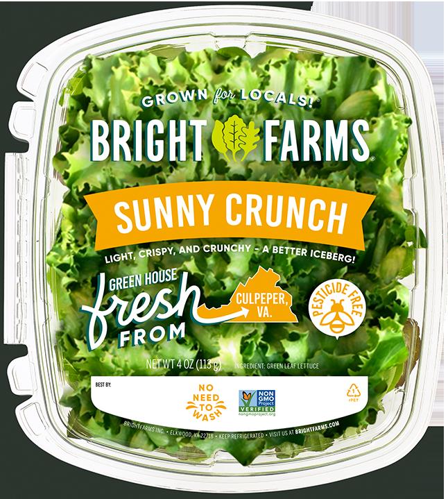 BrightFarms Sunny Crunch | Local Baby Greens | Crispy Crunchy Green Leaf | A Better Iceberg