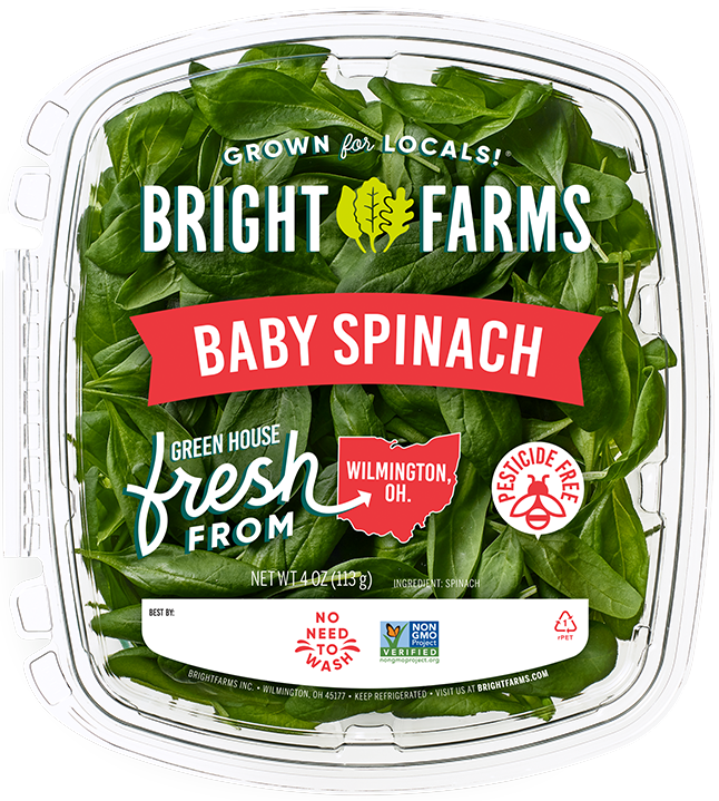 BrightFarms Baby Spinach | Local Baby Greens