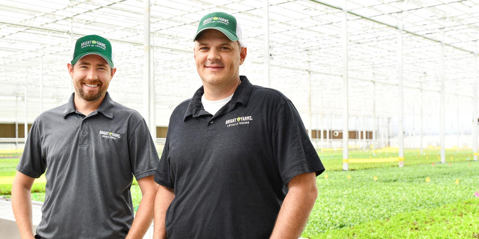 BrightFarms OHI Greenhouse | Head Grower Nick Chaney | General Manager Brian Stephens | Inside Hydroponic Farm Field