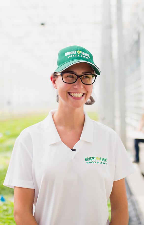 Denise DeRue | Head Grower | Farmer | Hydroponic Greenhouse | Lettuce | CEA | Grown Indoors | BrightFarmer | LMT Greenhouse